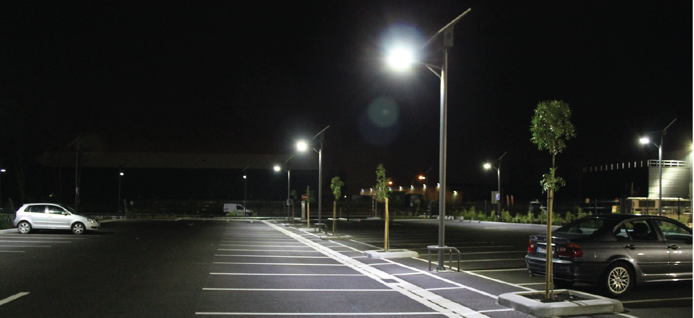 Project Of Car Park Solar Led Street Lights Solux